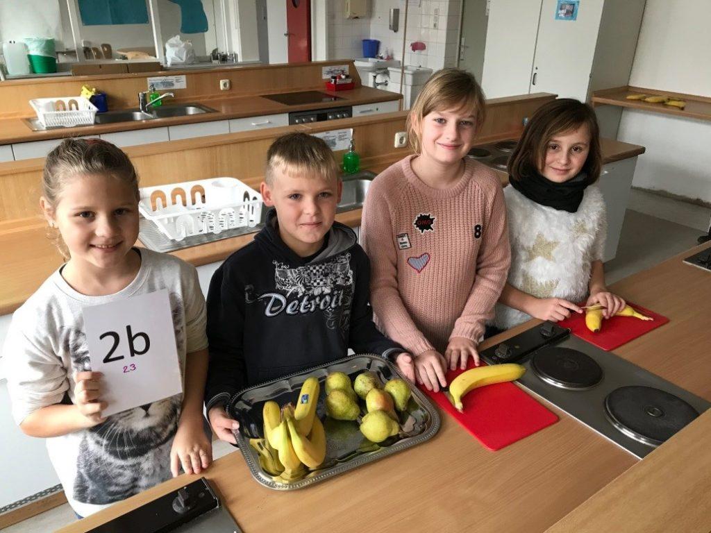 Frisches Obst und Gemüse in der Heinrich-Mann-Schule